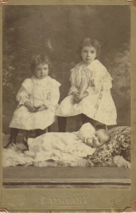Helen, Mae and Earl Moore, c1897