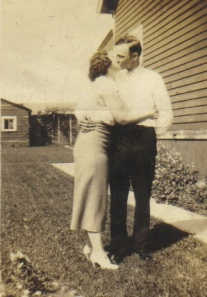 Helen and Charles Wilson kissing on their wedding day.  One of my favorite pictures of my grandparents!