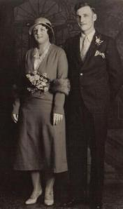 Helen and Charles Wilson on their wedding day, June 4, 1932