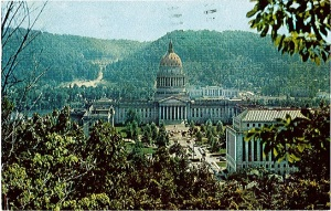 The first postcard from West Virginia on their way down to Florida.