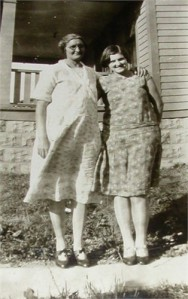 Nannie and her daughter, Mary about 1929