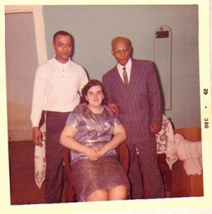 Melvin, Sally and Charles Jones, Christmas 1962