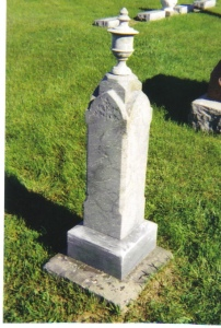 Thomas and Polly Ann Belknap's tombstone