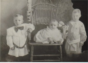From left: Cecil, Jack, and Hugh (1905)