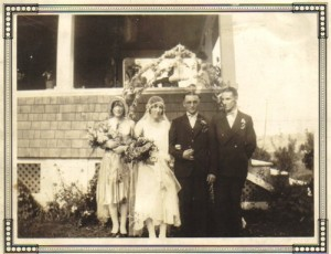 Jack and Winnie's Wedding, September 2, 1930