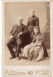 Orson (1838-1920) and Rachel (Everitt) Westfall (1843-1924), with daughter Ada (1876-1910)