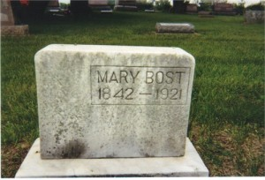 Mary Barbara (Shartzer) Bost, Shiloh Christian Union Cemetery