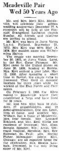 50th Anniversary, Dec. 24, 1942
