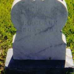 Lucina Belknap Clark's tombstone in Tedrow Cemetery, Fulton Co., Ohio (photo is from 2005)